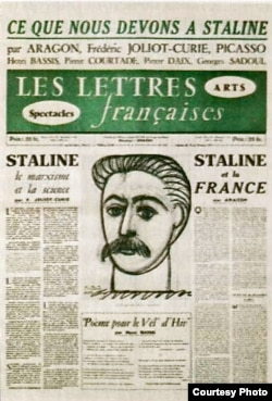 Retrato de Stalin hecho por Picasso a pedido de Aragon.