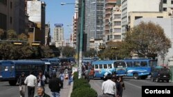 Violencia en la primera jornada de huelga en Bolivia