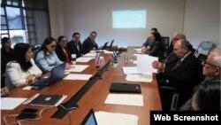Cuba y Costa Rica intercambiaron información sobre migración, buscan medidas conjuntas. (Foto Cancillería Costa Rica)