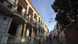 La calle Enramada en el centro de Santiago de Cuba.