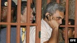 El ex ministro de Defensa de Venezuela y general en retiro Raúl Isaías Baduel tras ser imputado por parte de la Fiscalía Militar