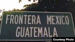 Señal de frontera México-Guatemala.