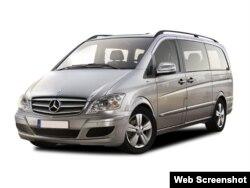 Foto de un Mercedes-Benz Viano CDI 2011, similar al que viene usando Fidel Castro.