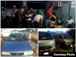 Captura de 29 cubanos indocumentados. Fotos de la página de Facebook de la Fuerza Pública de Costa Rica.