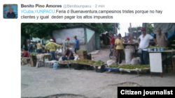 Reporta Cuba. Mercado campesino, Buenaventura, Holguín. Foto: @Benitounpacu.