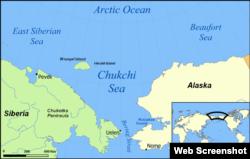 Mapa Chukotka.
