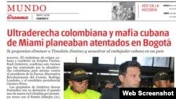 La noticia en el diario Granma.