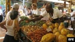 Agromercado en La Habana (Cuba)