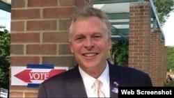 El actual candidato demócrata a Gobernador de Virginia, Terry McAuliffe.