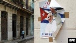 La Habana a menos de veinte días de la llegada del papa Francisco