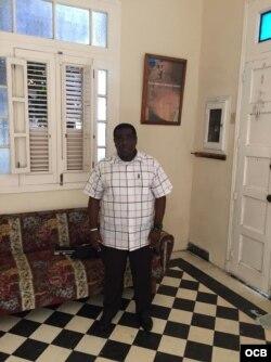 Iván Hernández Carrillo en la casa de la familia Payá el 22 de febrero del 2017