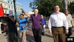 Opositores cubanos participan en una cena con legisladores de EE.UU.