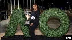 Serena Williams, ganadora del Abierto de Australia.