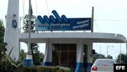 Entrada de la Marina Hemingway, en La Habana.