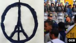 """""""Cubanos en Costa Rica"""" y """"Ataques terrorista en París"""". Temas de impacto en las redes sociales."""