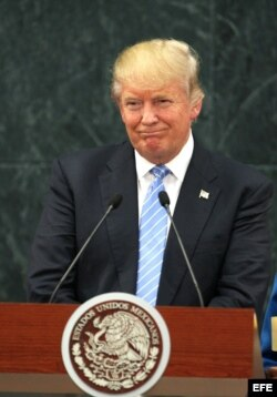 El candidato republicano a la presidencia de Estados Unidos, Donald Trump.