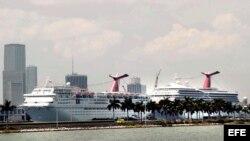 Puerto de Miami, cruceros.