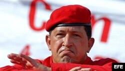Fotografía de archivo del presidente venezolano Hugo Chávez.