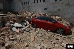 Vista general de daños en la capital mexicana tras el sismo de 7.1.