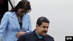 Presidente venezolano Nicolás Maduro a su llegada a Panamá.