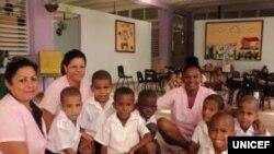 Circulo infantil rehabilitado en Cuba por UNICEF y la Fundacion Iberostar