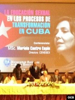 Mariela Castro en Santo Domingo