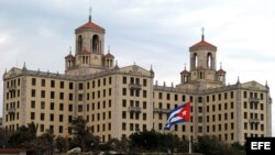 Vista del Hotel Nacional de Cuba. Los viajeros estadounidenses han descubierto que encontrar habitaciones de hotel disponibles se ha vuelto difícil.
