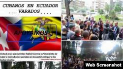 Cubanos en Ecuador presionan por plan que les permita llegar a Estados Unidos.