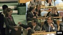 Fotografía de archivo. Votación Consejo de Seguridad de la ONU.