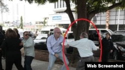 Alexis Frutos, coronel de la Dirección de Inteligencia cubana, en pleno acoso a Orlando Guetiérrez Boronat.