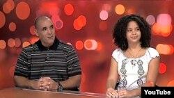 El ex pelotero cubano Gabriel Pierre y su hija Amarilis Coloma