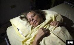Marta Beatriz durante la huelga de hambre que realizó en septiembre de 2012.