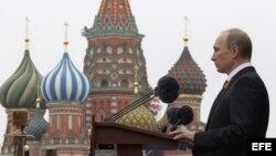Putin en el desfile de la victoria