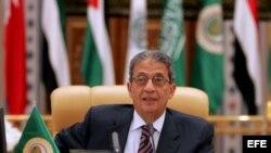 El líder de la Liga Árabe, Amre Mahmoud Moussa