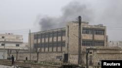 Comabtes en Aleppo, Siria en enero del 2013.