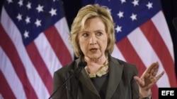 Hillary Clinton durante un discurso en la prestigiosa Stern Business School de Nueva York.
