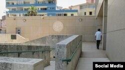 Vista de la embajada de EEUU en La Habana. Foto Embajada de Estados Unidos en Cuba Facebook.