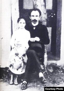 José Martí y María Mantilla en 1890