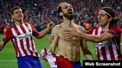 Juanfran Torres celebra su gol.
