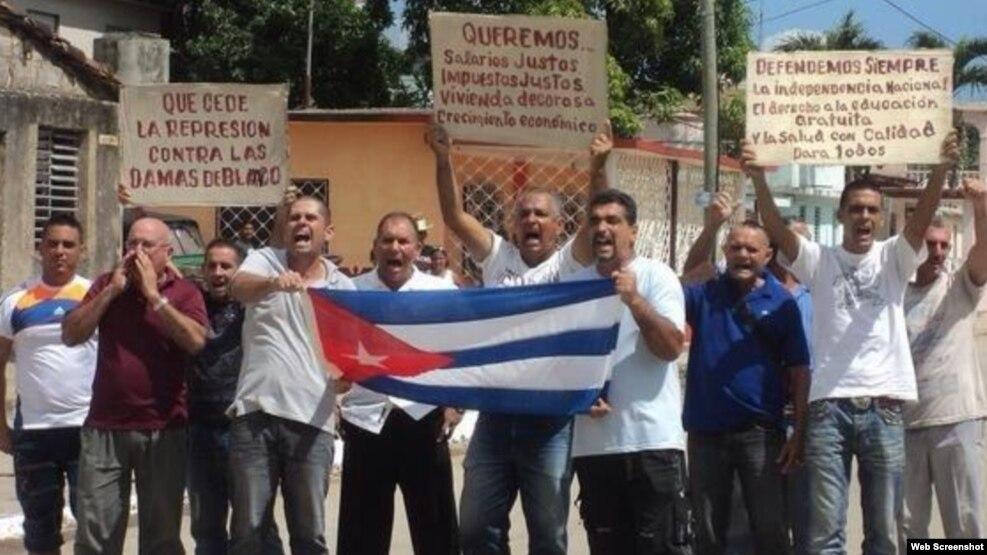 Miembros de UNPACU convocaron este domingo a una marcha en Santiago de Cuba. (Foto Archivo UNPACU)