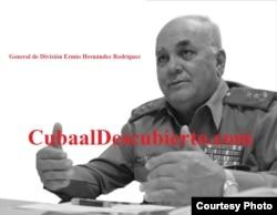 Según la periodista venezolana Sebastiana Barráez el general cubano Ermio Hernández es el jefe de la sala situacional del Palacio de Miraflores (Luis Domínguez, Cuba al Descubierto))