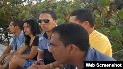 Integrantes del grupo de video independiente Palenque Visión, en Guantánamo.