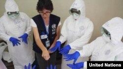 Centro de Entrenamiento para Tratamiento del Ébola, Sierra Leona.