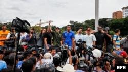 Henrique Capriles durante una manifestación, martes 7 de junio del 2016, en la ciudad de Caracas (Venezuela).