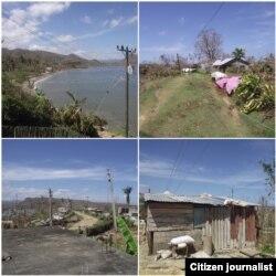 Bahía de Mata a una semana del huracán /Fotos de Francisco Manzanet