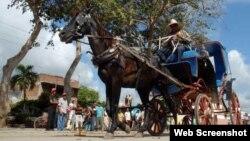 Cocheros en Cuba