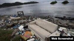 Aguas contaminadas en Río de Janeiro.