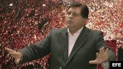 Alan García, presidente de Perú en los periodos de 1985-1990 y 2006-2011 (Archivo)
