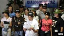 ARCHIVO. FARC durante la lectura de una declaración en La Habana