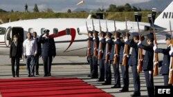 Llegada de mandatarios para la pesesión del presidente Juan Manuel Santos